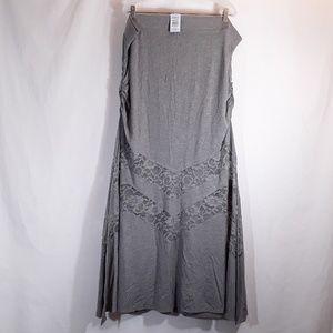 torrid Skirts - NWT TORRID Long Lace Inset Maxi Skirt